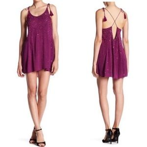NWT Free People JustWatchMeSlip Sequin Halter Dres